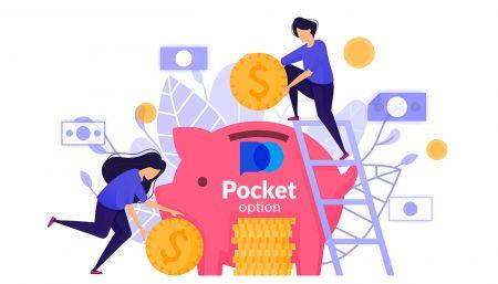 Como sacar e fazer um depósito em dinheiro no Pocket Option